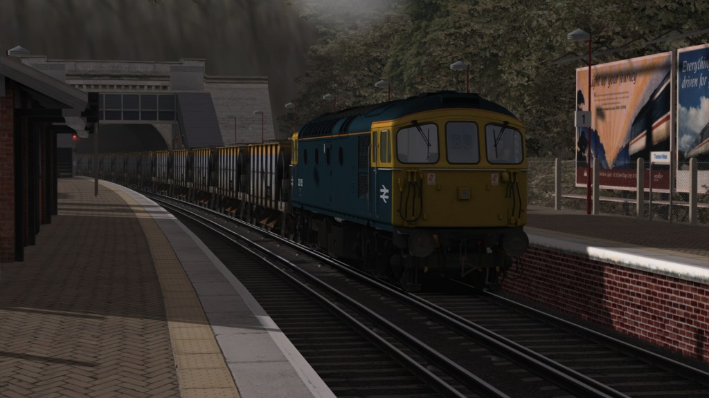 Class33 at Tondon West, formally known as Folkestone West
